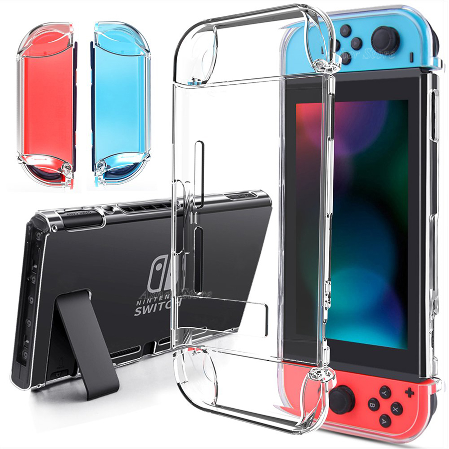 New Nintend Switch Crystal Shell Case Dockable Clear Transparent Protective Cover for Nintendo Switch Nintendoswitch Accessories(China)