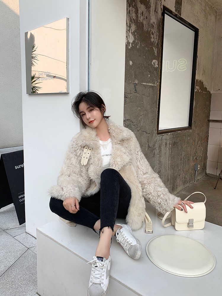 Casaco de pele natural das mulheres 100% jaqueta de lã roupas femininas 2020 parka casaco de pele real inverno feminino jaqueta de couro real 2020tw73 yy2410