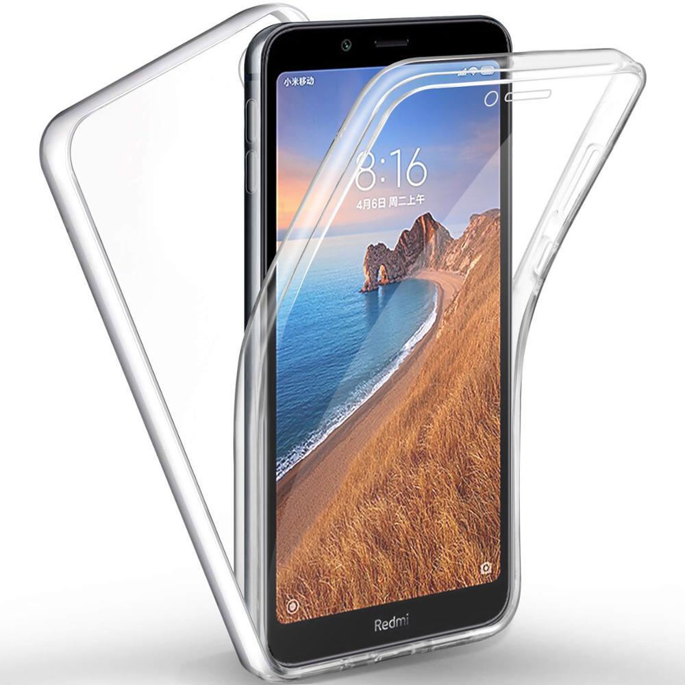 360 Full Body Case For Xiaomi Redmi Note 9S 8T 10 Pro 7 7A 5 6A 4X Mi 8 Lite 9 SE F1 Double Sided Silicone TPU Transparent Coque