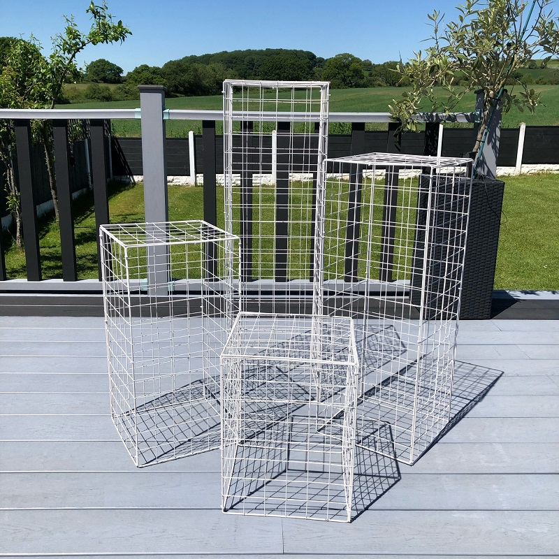 Wedding Party 4pcs Grid Plinth Iron Square Background Stand Table Decoration Road Stage Plinth Wedding Decorations