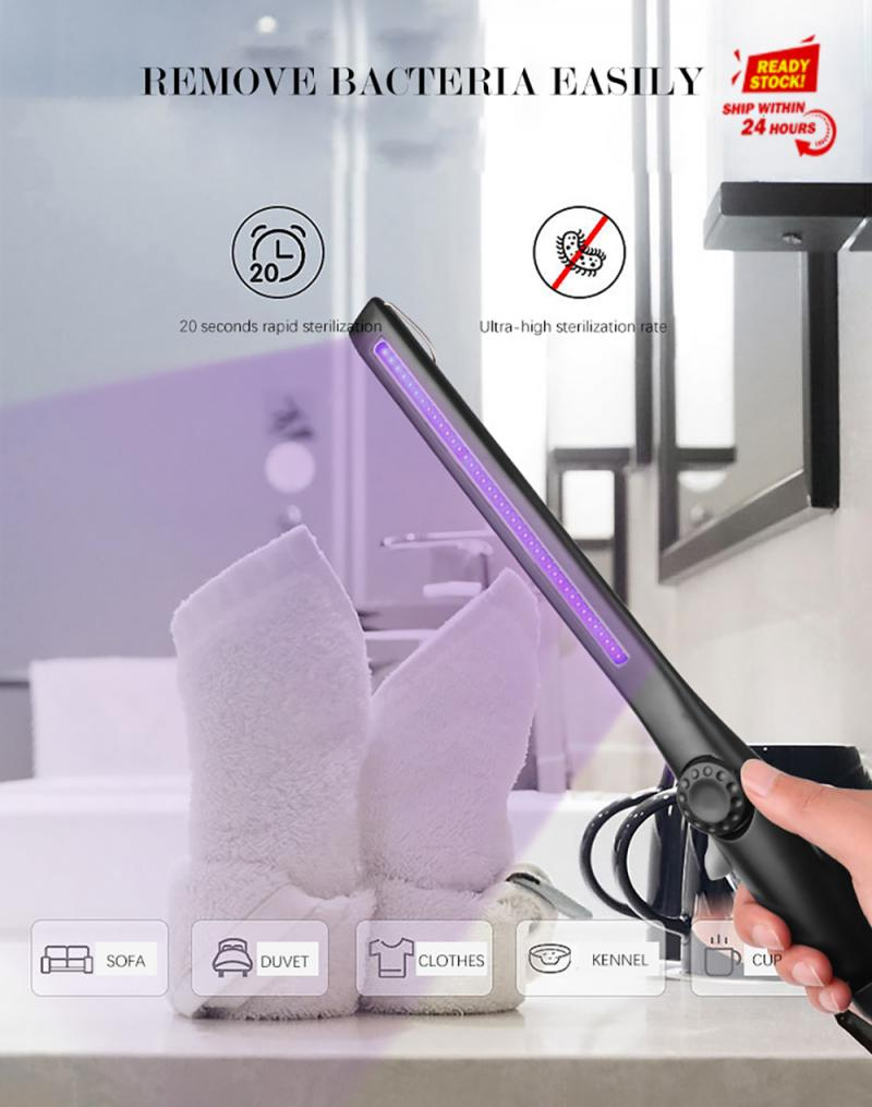 5W 360 Degree Adjustment Power Portable UV Ultraviolet Sterilization Disinfection Lamp Promise Dimming Light With USB Charging
