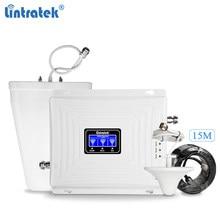 Lintratek repetidor gsm 2g 3g 4g impulsionador de sinal 900 1800 2100mhz tri banda impulsionador gsm 900 1800 3g 2100 sinal ampli KW20C-GDW