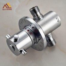Латунь g1/2 термостатический смеситель с лампой регулировки температуры воды термостатический Солнечный регулирующий клапан обогревателя