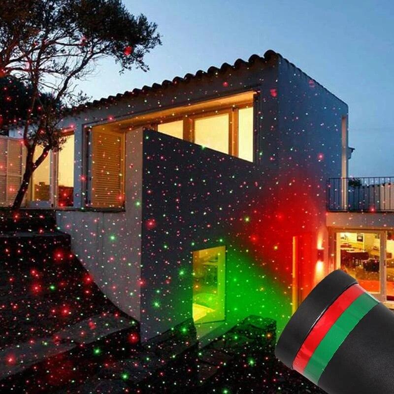Led Lampu Panggung Pohon Taman Ponsel Proyeksi Laser Lampu Outdoor Tahan Air Pesta Natal Dekorasi Rumah Tahap Efek Pencahayaan Aliexpress