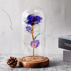 Image 3 - 2019 Beauty and the Beast Red Rose in a Glass Dome on a Wooden Base for Valentines Gifts