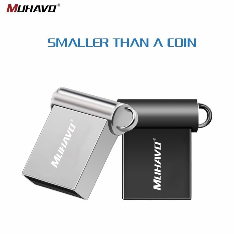 Super MINI Pen Drive 64GB 32GB Usb Flash Drive 128GB Metal Pendrive 16GB 8GB 4GB Flash Drive Waterproof Usb Stick Custom Logo