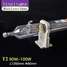Tubo láser de CO2 T2 Reci 90W 80W 100W de diámetro 65, caja de madera para máquina de corte láser CO2, tubo de equipo de grabado, novedad