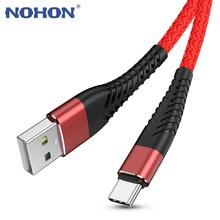 3M rodzaj usb C przewód do szybkiego ładowania dla Huawei P20 P30 Lite Samsung S10 S9 S8 Plus Xiao mi mi 8 9 uwaga 7 8 K20 telefon długi przewód przewód tanie tanio Nohon Nylon Typu C 2 4A Złącze ze stopu USB Type C Cable USB C Cable USB Cord Mobile Phone Cable USB Cable USB C Type-C Cable USB-C USB Charge Charging Cable