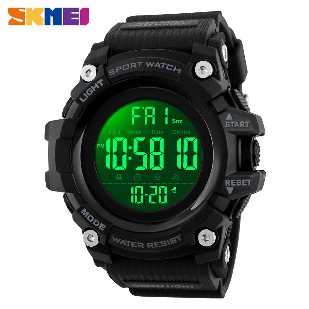 <font><b>SKMEI</b></font> Outdoor Sports Watch Men 5Bar Waterproof Countdown Digital Watch 2Time Alarm Fashion Wristwatches Relogio Masculino <font><b>1384</b></font> image
