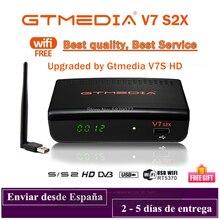 Satellite-Decoder Gtmedia V7s S2X DVB-S2 Wifi H.265 1080P by USB HD V7S2X Upgraded No-App