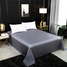 Flat sheet 100% mulberry silk Solid Color Bed Sheet real silk for King Queen Size Bedding Sheet Home textile Sheet