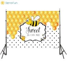Buy Sensfun Birthday Newborn Baby Show Bee Background Quality Vinyl Photographic Backgrounds Photocall Photo studio Custom Name Date directly from merchant!