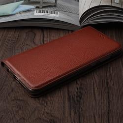 На Алиэкспресс купить чехол для смартфона litch genuine leather case for lenovo k3 / k3 note k5 k6 k8 note k10 / k6 power mobile phone retro flip cover leather cases