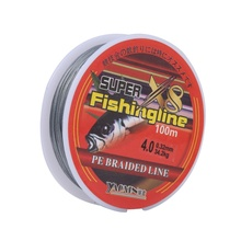купить Powerful Fishing Line 8 Strands 0.10~0.40MM 6-60LB Strong PE Braided Fishing Line For Sea Fishing 100m Daiwa Line Multifilament дешево