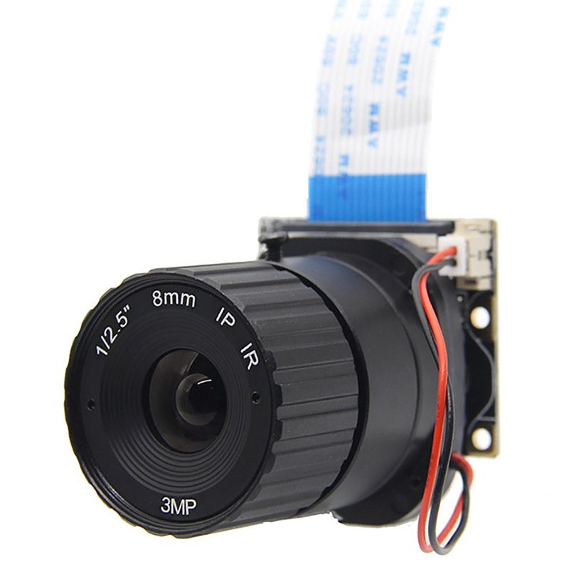 For Raspberry Pi Camera / 5MP 8mm Focal Length OV5647 Chip NoIR Camera Board For Raspberry Pi 3 Model B/2B/B+/Zero/Zero WH