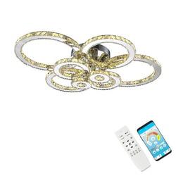 Plafonnier en cristal K9, plafond moderne à LEDs lumières, luminaire décoratif d'intérieur, idéal pour un salon, une salle à manger ou une chambre à coucher