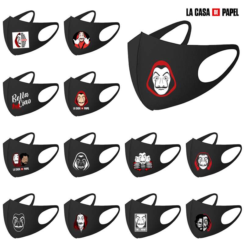Mouth Mask La Casa De Papel Season Money Heist Breathable Face Mask Reusable Face Cosplay Mouth Cover Dropshipping