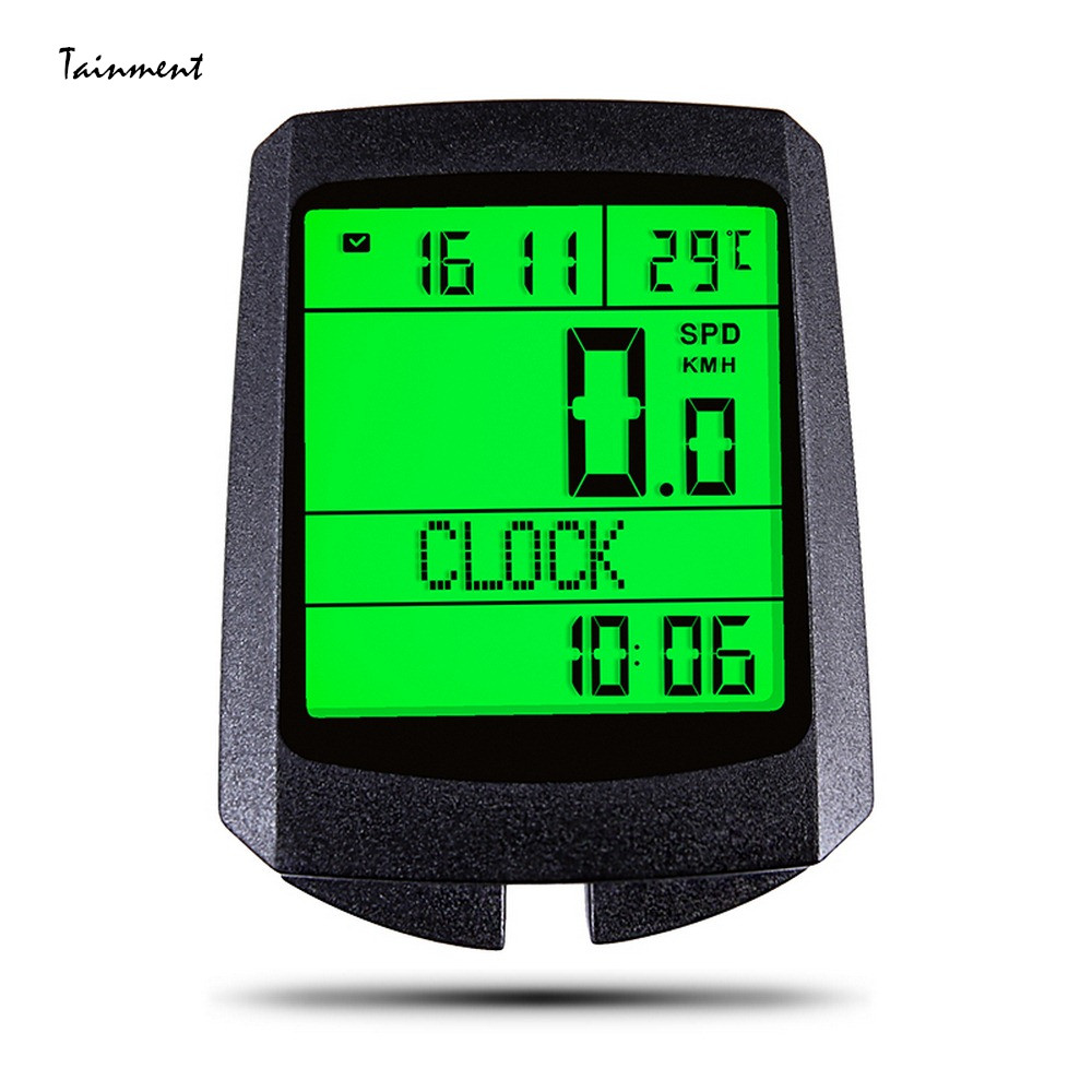 Five Languages <font><b>Bike</b></font> Computer LCD Display Digital Wireless <font><b>Speed</b></font> <font><b>Meter</b></font> Cycling Speedometer Multi function Luminous Odometer New image