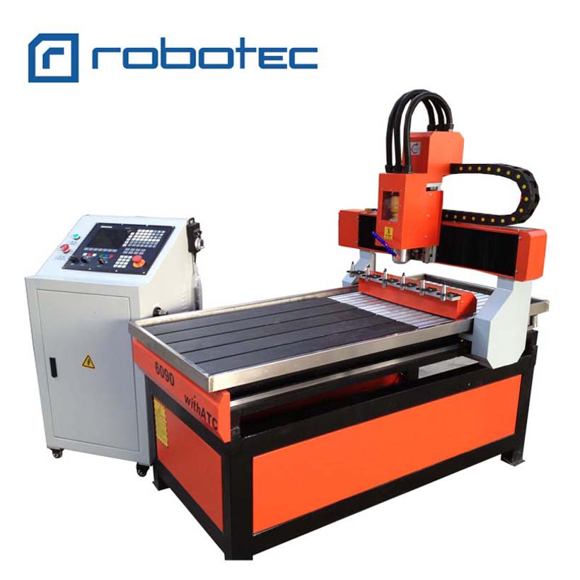 9060 Cnc Router ATC Machine / Atc Cnc Router 6090 6pcs Carousel Tool Changer For Wood Carving And Engraving
