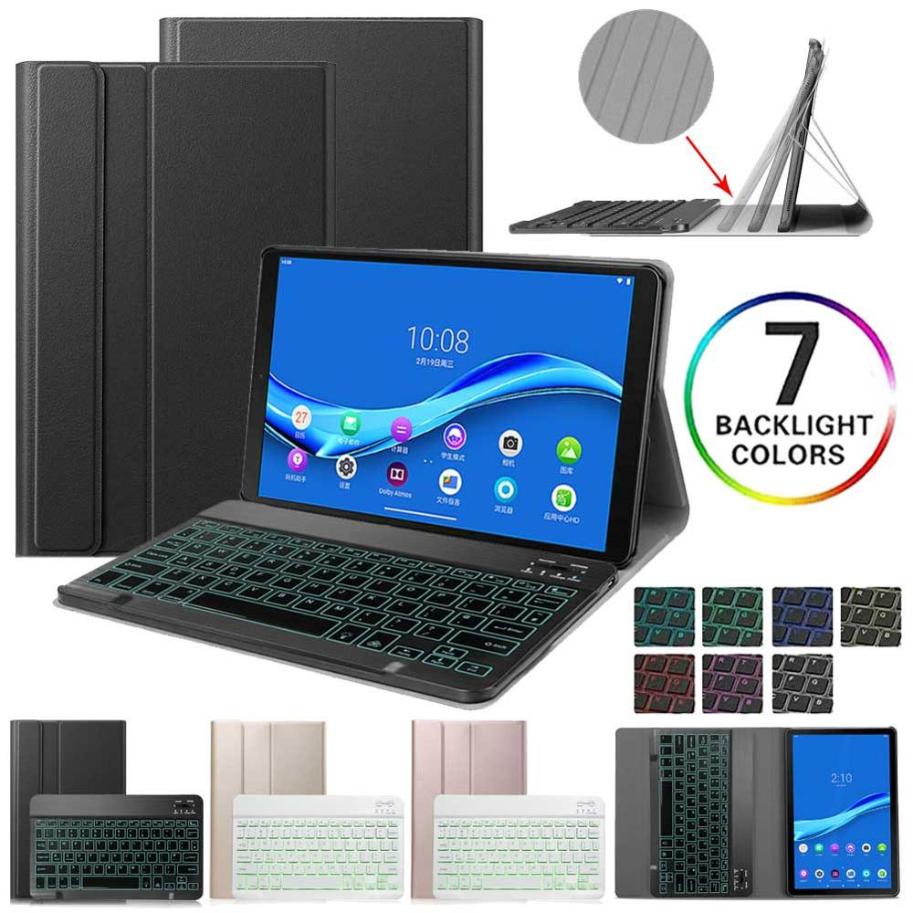Backlit Wireless Keyboard Case For Lenovo Tab M10 FHD Plus TB-X606F TB-X606X Tablet Stand Cover Folio Case English Russian