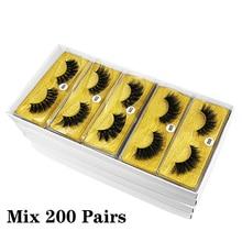 3D Mink Eyelashes Wholesale 30/50/100/200 Pairs makeup Mink lashes Pack Natural False Eyelashes Soft Thick Fake Eyelashes Bulk