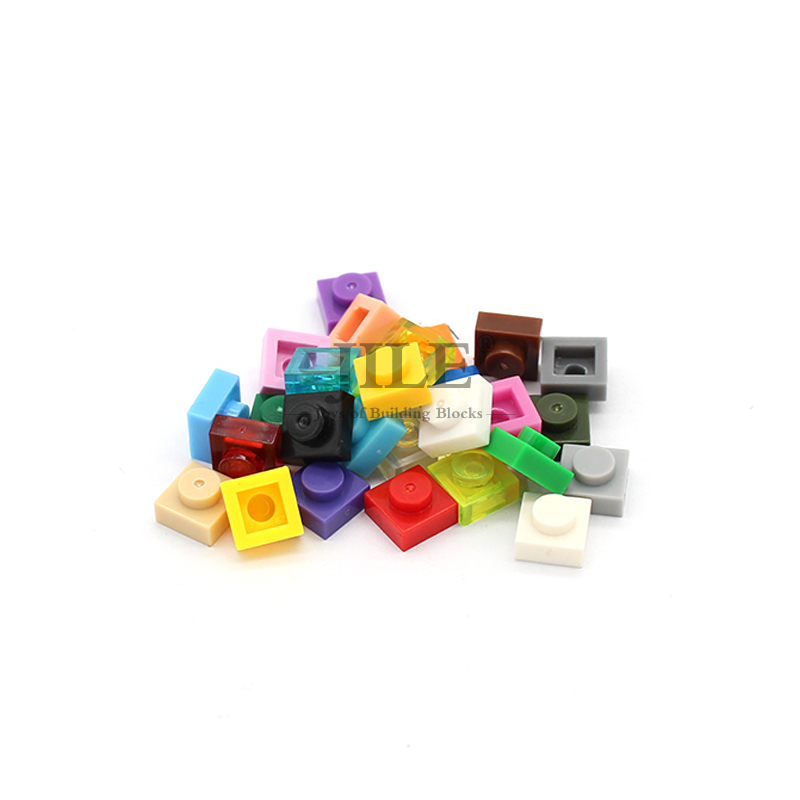 Moc Tiles Plate 1x1 3024 Short Piece DIY Creative Enlighten Basics Building Blocks Bricks Compatible With Assembles Particles