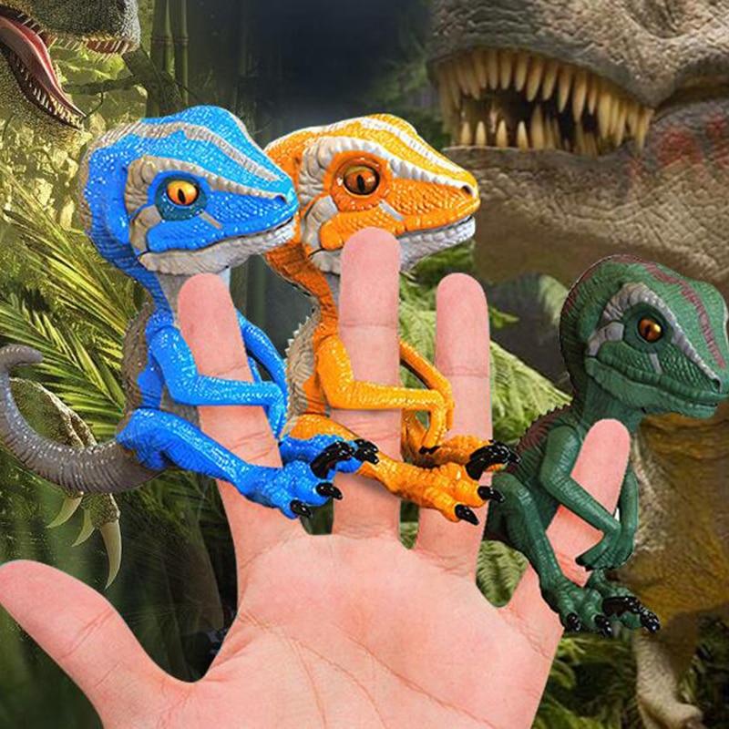 Creative Velociraptor figure Electric Dinosaur Pets Toy Fingertip Finger Dinosaurus Smart Toy Electronic Pet Dinosaurio Model