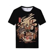 T-Shirt Men Japanese Vegetable Print Streetwe Element-Tops Monster Funny