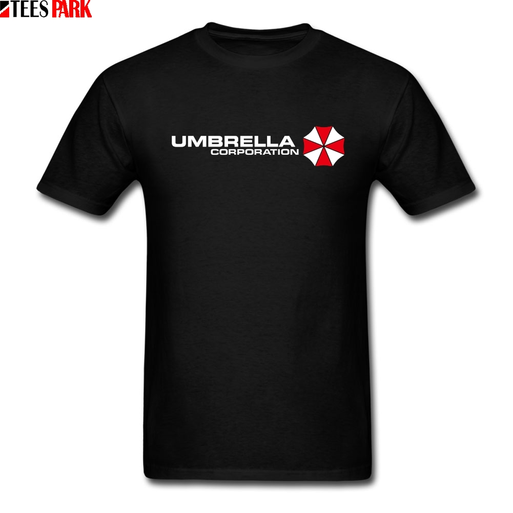 Retro T Shirts Umbrella Corporation Black T Shirt Men Men Cotton Bodybuilding Tshirt High Quality Students Men's T Shirt Humor