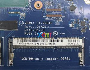 Image 3 - CN 0W6XCW 0W6XCW W6XCW w i5 4200U CPU VBW11 LA 9984P for Dell Inspiron 17R 5737 NoteBook PC Laptop Motherboard Tested