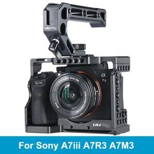 Image 1 - UURig C A73 소니 A7III A7R3 A7M3 용 메탈 카메라 케이지 리그 탑 핸들 그립이있는 콜드 슈 마운트 Arca 스타일 퀵 릴리스 마운트