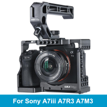 UURig C A73 Metal Camera Cage Rig for Sony A7III A7R3 A7M3 Cold Shoe Mount Arca Style Quick Release Mount with Top Handle Grip