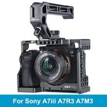 UURig C A73 Metal kamera kafesi kulesi Sony A7III A7R3 A7M3 soğuk ayakkabı dağı Arca tarzı hızlı bırakma dağı ile üst kolu kavrama