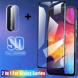 На Алиэкспресс купить стекло для смартфона 2in1 glass for samsung galaxy a31 a51 a71 a10 a20 a70 a20e a30 a40 a50 9d full cover screen protector tempered glass lens film