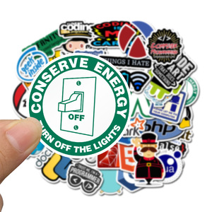 Image 2 - Autocollants Geek Java, autocollants en PVC imperméables, 10/30/50pcs programmeurs, guitare, Skateboard, valise, ordinateur portable, Graffiti, moto