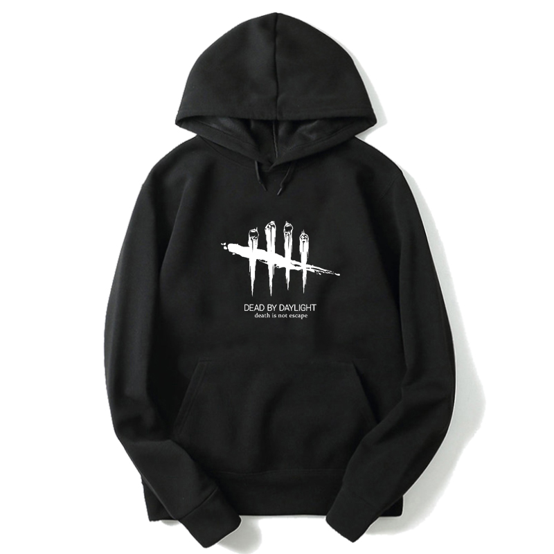 Dead By Daylight Hoodies Streetwear Sweatshirt Men Harajuku Black Hoodie Oversized Hoodie Winter Pullover Long Sleeve Clothes