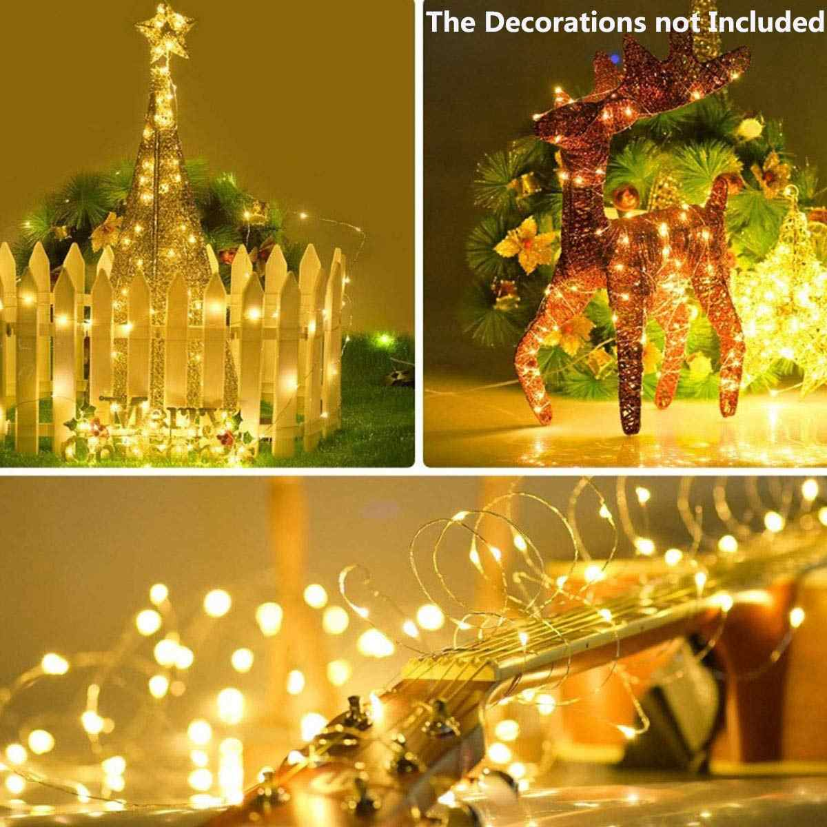 LED Solar Lamp String Lights Fairy Garland Waterproof Christmas Party Decoration