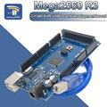 5V MEGA2560 MEGA 2560 R3 (ATmega2560-16AU CH340G CH340) 2560 PRO Встроенная AVR USB макетная плата для 3D-принтера Arduino