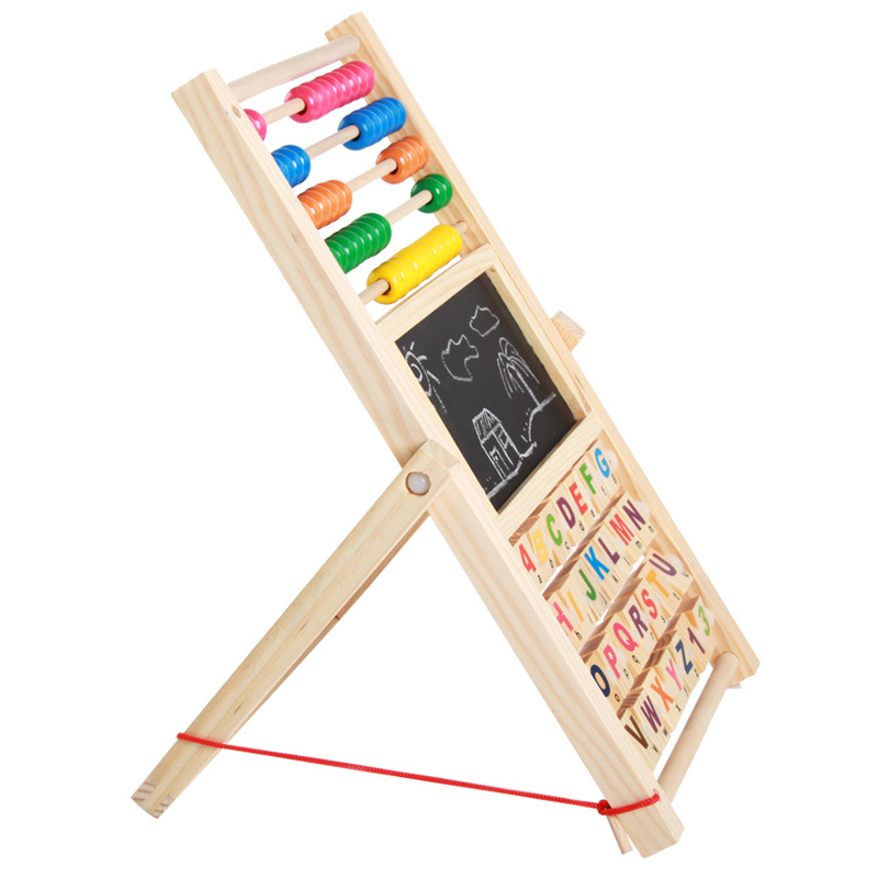 Wood Mom Multi-functional Wood Zhu Suan Jia Magnetic Drawing Board Young CHILDREN'S Early Childhood Educational Multi Purpose Le