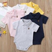 Одежда для новорожденных мальчиков однотонный комбинезон летняя