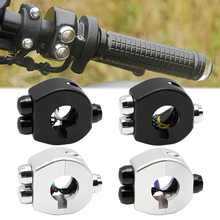 """1"""" 25mm Handlebar Motorcycle Switch Button Latch / Momentary Cnc Aluminum Alloy 12V Universal Cafe Racer Custom"""
