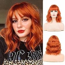 Женский парик HAIRJOY из искусственных волос разных цветов, парик средней длины с кудрявыми волосами, красный, розовый, фиолетовый, черный, зеле...