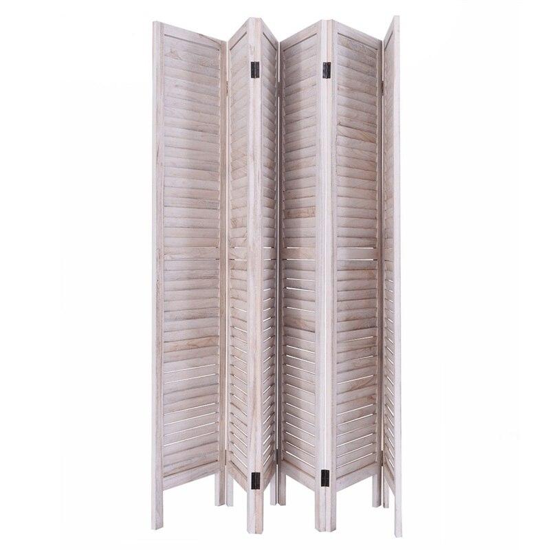 6 panneaux classique vénitien en bois lamelle salle écran traditionnel chinois chambre écran dévider HW53906 - 4