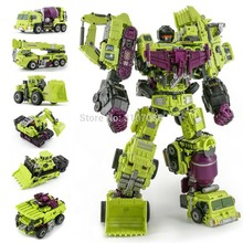 JinBao Devastator Transformation G1 GT Oversize 6IN1 Bonecrusher Scrapper Gravity Mixmaster Hook KO Action Figure Robot Toys