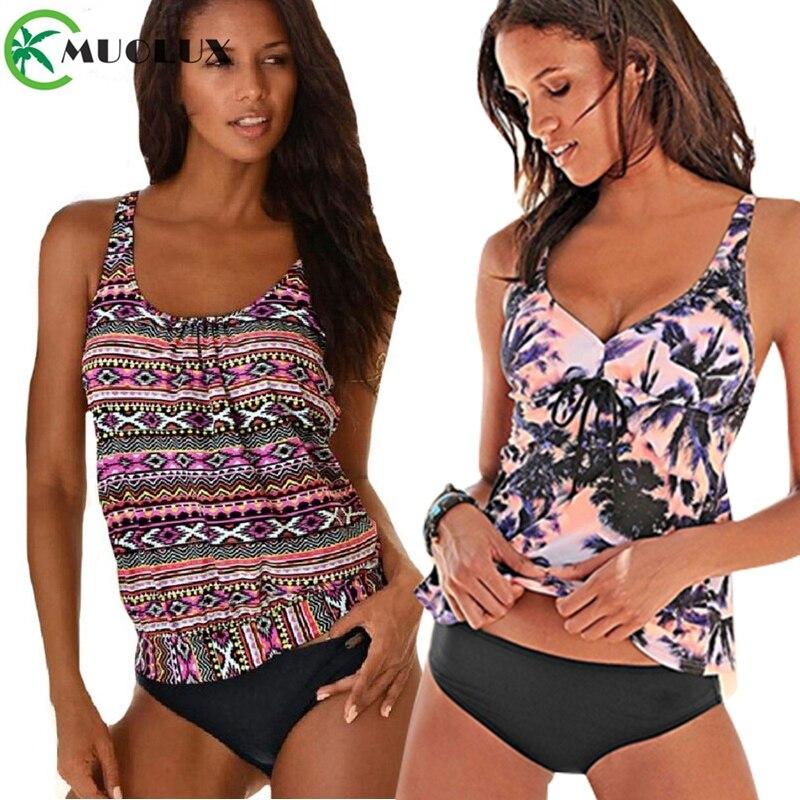 2019XXXXXLSwimsuit Women Swimwear Tankini Plus Size Sets Swim Vintage Beach Wear Bathing Suits Female Vintage Monokini Swim Suit