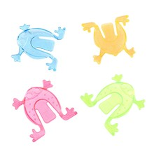 Cute Novelty 1pcs Jumping Frogs Assorted Hopper Game Baby Toy Action Toy Figures(China)