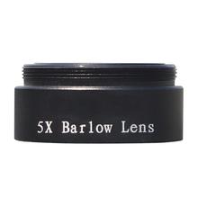 Profesjonalny 5-krotny obiektyw barlowa 1 25 calowy przedłużacz okularu M28 5 * 0 6 akcesoria astronomiczne teleskop lub Adapter do aparatu tanie tanio ANENG CN (pochodzenie) Barlow Lens Z tworzywa sztucznego