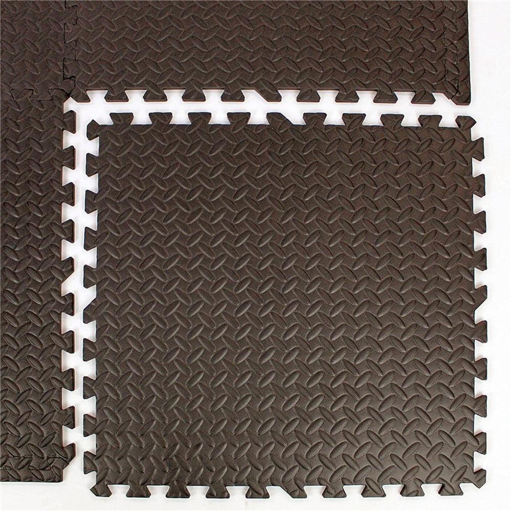 1 Piece Coffee Interlocking EVA Soft Foam Exercise Floor Mats Rug Children Play Mats Gym Garage House Office Mat 30*30*1cm