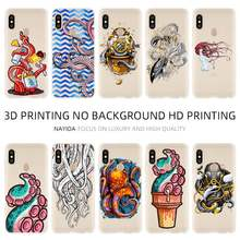Thời Trang TPU Ốp Lưng Coque Xiaomi Redmi 4X 4A 6A 7A Y3 K20 5 Plus Note 8 7 6 5 Pro Graffiti Pulpo(China)