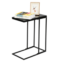 tea table for office coffee magazine shelf small table single layer living room table room furniture black iron base